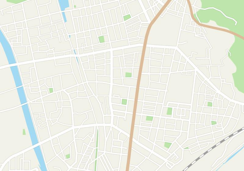 敦賀市中心街の簡易地図
